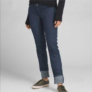 Prana Kara Jeans Relaxed Fit Soft Stretch Blue